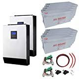 8 kW ununterbrochene Stromversorgung (UPS) System mit 19,2 kWh Energiespeicher Batterie-Backup