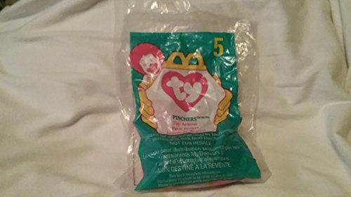 1998 McDonalds Happy Meal Toy Ty Teenie Beanie Babies #5 Pinchers the Lobster Plush Collectible