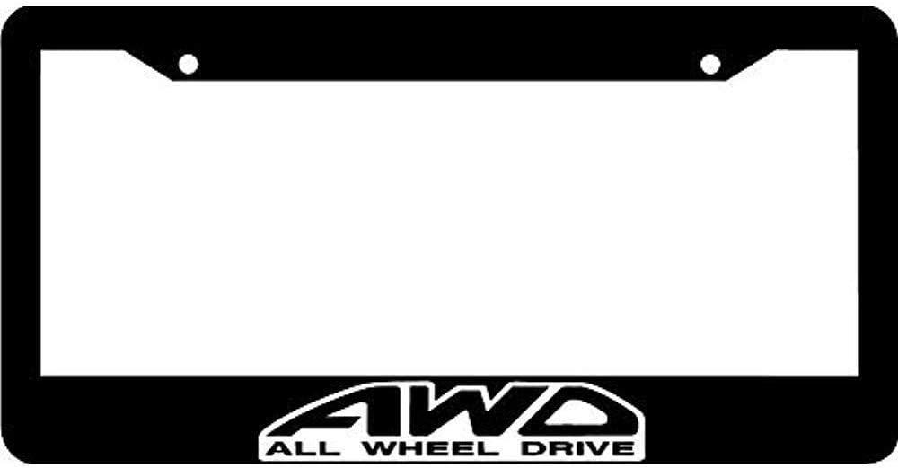 Invinciblefrme Customized Black License Plate Frame Car Tag Frame Holder Decorative