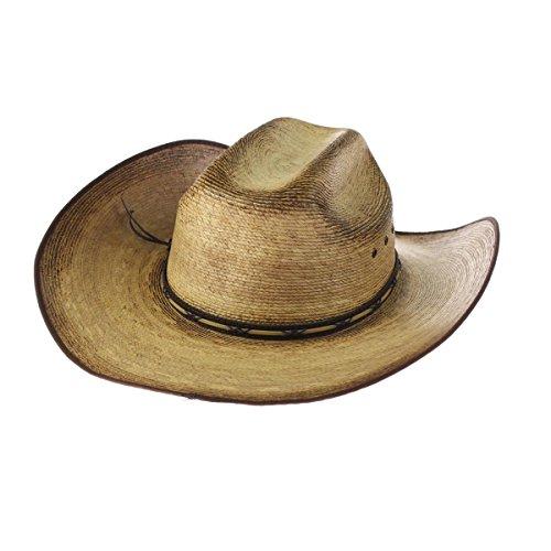 RESISTOL - Sombrero de vaquero de paja amarillo Sky Palm 4 1/8