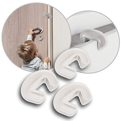 reer Vorteilspack 3x Finger-Klemm-Schutz für Türen, Tür-Stopper, vom schwäbischen Kinder-Sicherheits-Experten, transparent