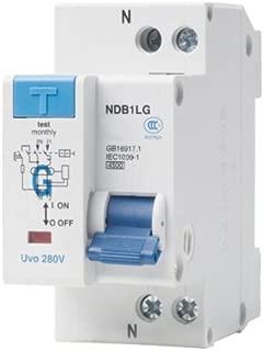 ASI NDB1L-32C-25-240V DIN Rail Mount Ground Fault Circuit Breaker, UL 1053 Ground Fault Sensing, Leakage Current 30 mA, 25 amp, 240V