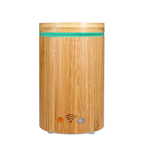 Smart Wifi Aroma Diffuser Bamboo Electric SPA Humidifier Support Google Alexa with RGB Light, Gifts for Mum