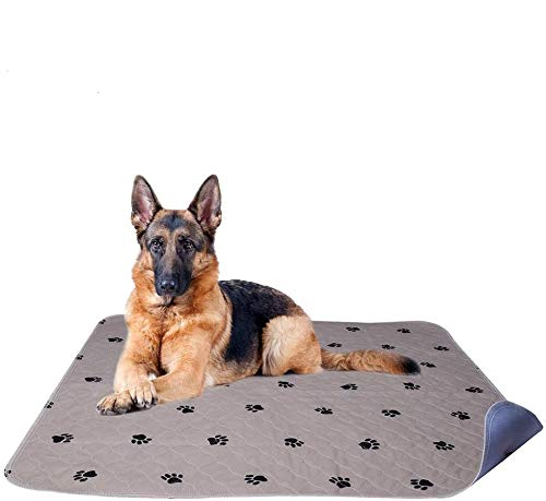"""PUPTECK 2 Pack Reusable Dog Pee Pads - Waterproof and Washable for Your Pet Training Housebreaking- Size Medium: 34""""x 36"""""""