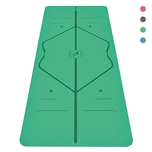 Liforme Yogamatte - Die weltweit beste umweltfreundliche, rutschfeste Trainingsmatte mit einzigartigem Ausrichtungsmarkierungssystem, biologisch abbaubarer Matte aus Naturkautschuk und kriegerartigem