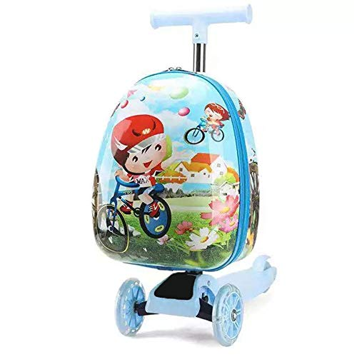 Koffer XYDBB Kids Scooter Travel Trolley Bagage Met Cartoon Skateboard Tas Gift Carry On Cabin Koffer Lazy 16