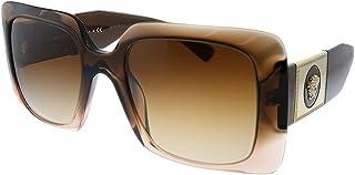 Versace VE 4405 533213 Brown Plastic Rectangle Sungl Brown Gradient Lens