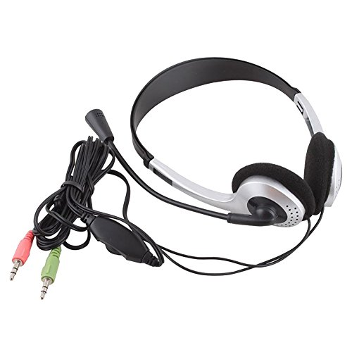 Shuohu New Headset 010MV headset Headphones, Wired Earphone Headphone VOIP Headset with Microphone for PC Computer Laptop