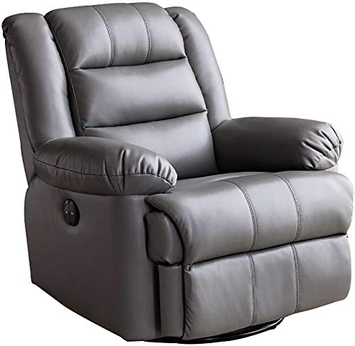 ZXCVB Furniture Component Royal Electric Recliner Armchair Power Lift Chair Sofa With Massage Heat And Vibration Pu Leather Lounge Home Riser Chair For Elderly