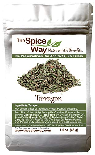 The Spice Way Tarragon Leaves – ( 1.5 oz ) dried herb good for French cooking sauce