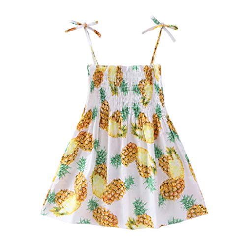 K-youth® Vestido de Eslinga Estampado de niña Linda Bohemia Vestidos Bebe Niña Playa Vestido de Princesa Sin Mangas Vestido para Niñas Ropa Bebe Niña Verano Elegante a la Moda 2019