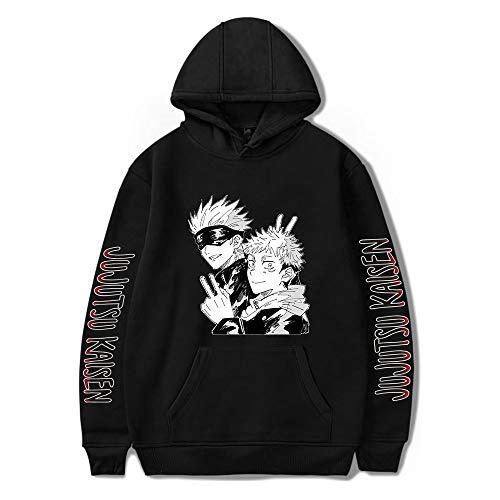 WZMLSJY Jujutsu Kaisen Hoodie Pullover Sweatshirt Outwear mit Kapuze für Kinder / Erwachsene / Jugendliche Gr. M, Cl01