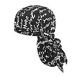 JIAHG Langer Bandana Cap Hat Piratenhut Kopftuch Herren Damen Piratenmütze