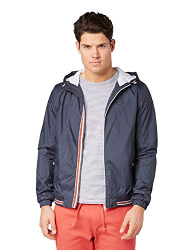TOM TAILOR Herren 1007511 Jacke, Blau (Blue Jacket Structur 15721), S
