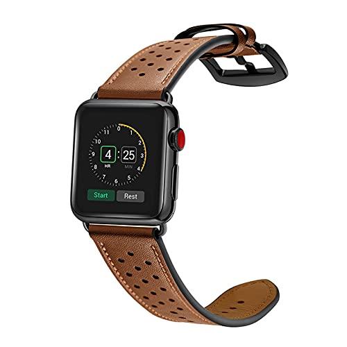 KAEGREEL Correas de Cuero para Apple Watch Correa 40 mm 44 mm 38 mm 42 mm, Correa de Repuesto para Mujeres/Hombres, Correa de Cuero clásica para iWatch SE/Series 6/5/4/3/2/1,42mm/44mm