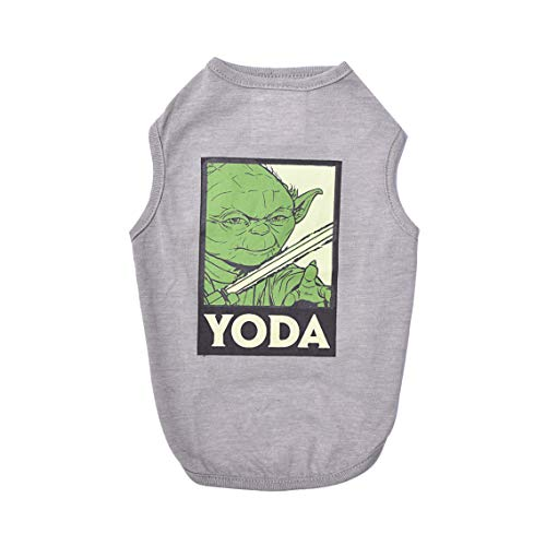 Star Wars for Pets Gray Yoda Dog Tank | Star Wars Dog Shirt for Small Dogs | Small