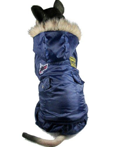 Abrigo Evergreens para perros estilo aviador americano, para perros medianos y grandes...