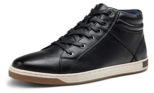 JOUSEN Men's Fashion Sneakers High Top Dress Sneakers Boots for Men(15,Black)