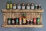 Especiero decorativo de madera – para pared o de pie – marrón (flameado)...