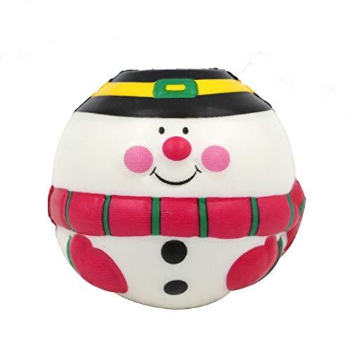 Cute Kawaii Santa Claus Doll Soft Bullet Toy Slow Rising Squeeze Descompresión, Multicolor