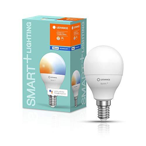 LEDVANCE Smarte LED-Lampe mit Bluetooth Technologie, Sockel E14, Dimmbar, Lichtfarbe änderbar (2700-6500K), ersetzt Glühlampen mit 40 W, SMART+ Mini bulb Tunable White, 1er-Pack