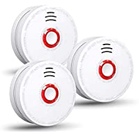 Siterwell Smoke Detector Battery Operated Photoelectric Sensor Fire Alarm