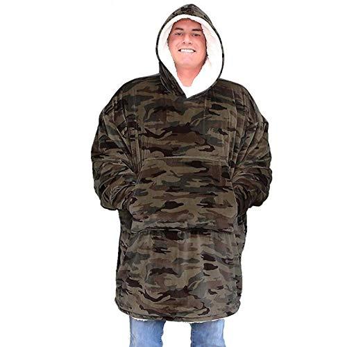 FDF Inverno Camouflage Stampa Allentato Con Cappuccio Caldo Maglione Pigro Coperta TV Coperta Aria Condizionata Coperta