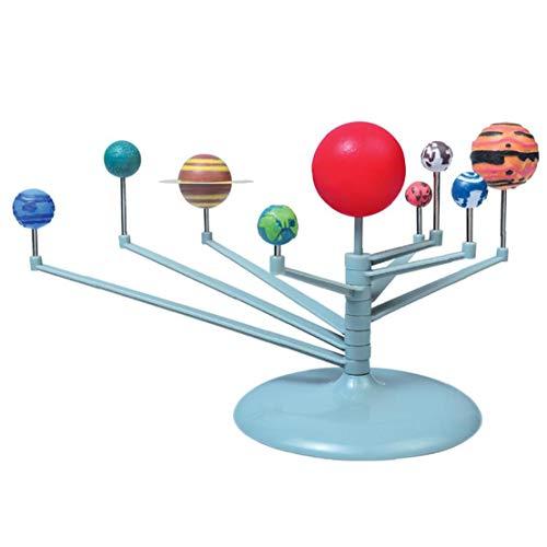 Berrywho Nueve Planetas del Rompecabezas del Juguete del Sistema Solar Montaje Modelos Planetario Modelo DIY Conjunto de Juguete astronómicos Juguetes para Niños