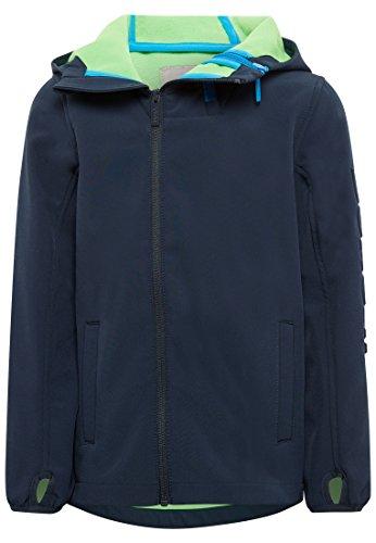 Bench Jungen Double Zip Softshell Jacke, Blau (Dark Navy Blue Ny031), 164 (Herstellergröße: 13-14)
