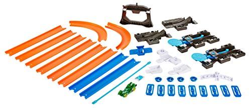 Hot Wheels Coffret Track Builder Ensemble de Départ avec Piste Transportable, éléments de Circuit et 1 Petite Voiture Incluse, jouet pour Enfant, DGD29