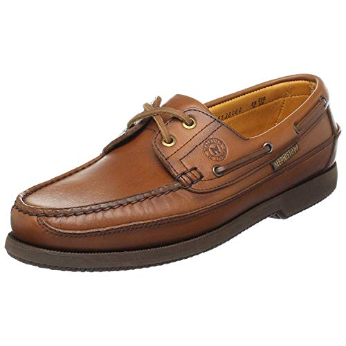 Mephisto Men's Hurrikan Moccasin Rust Leather 44 (US Men's 10)