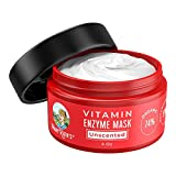 Vitamin Enzyme Mask (Plant Based) by MaryRuth's - 74% Organic Ingredients, Vitamins & Glycolic Acid gently remove dead skin cells to allow new skin tissue to emerge 4oz For Men & Women