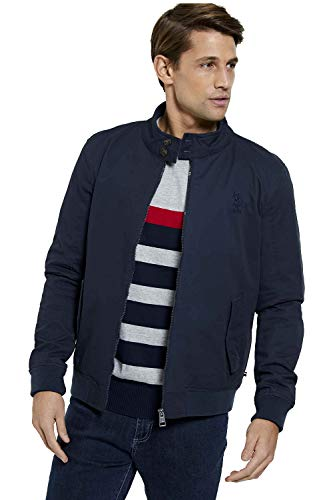 U.S. Polo Assn Mens Classic Quilted Harrington Jacket (XL, Navy Blazer)