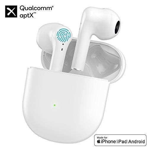 Cuffie Bluetooth 5.0, Auricolari Senza Fili con Custodia da Ricarica 24 Ore di Tempo di Utilizzo, Cuffie Sportive IPX5 Impermeabili con Touch Control per Apple AirPods/Android/iPhone
