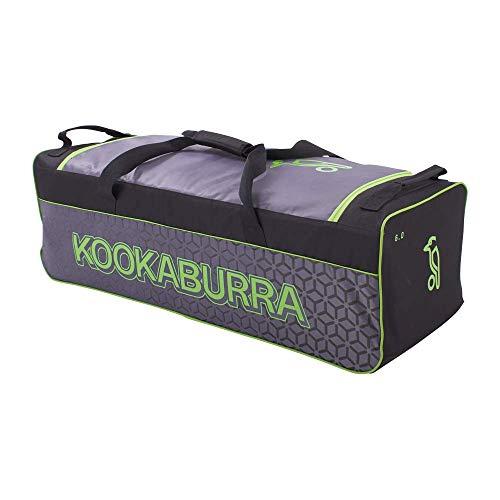 KOOKABURRA 6.0 Cricket-Tasche, schwarz/Lime, Einheitsgröße