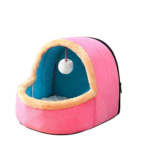 Fanville Hondenmand voor katten en katten, met speelgoedbal, warm, zacht, voor katten en katten