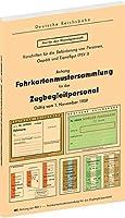 Fahrkartenmustersammlung fuer das Zugbegleitpersonal der Deutschen Reichsbahn 1959: - Gueltig vom 1. November 1959 -