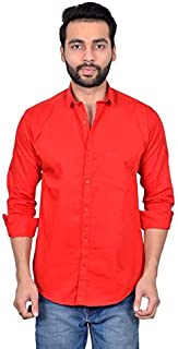 MOUDLIN Solid Men's Spread Collar Casual Fullsleeve Shirt by Maruti Online
