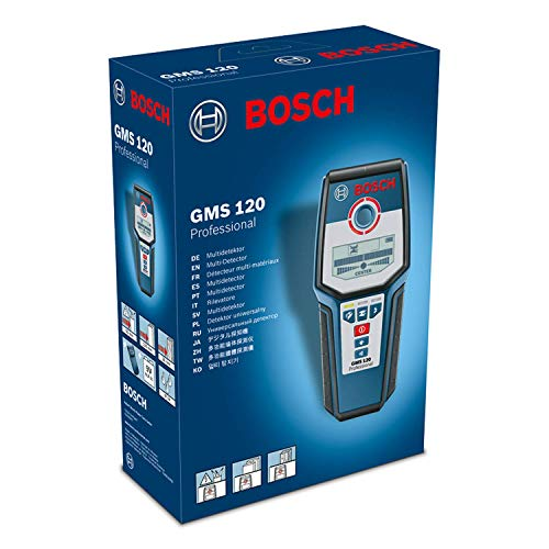 Bosch Professional Digitales Ortungsgerät GMS 120 (1 x 9 V Block Batterie, Schutztasche, max. Ortungstiefe Stahl/Kupfer/stromführende Leitungen: 120/80/50 mm) - 2