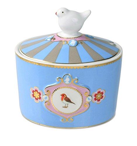 Pip Studio Love Birds azucarero azul-Caqui Medal Lion