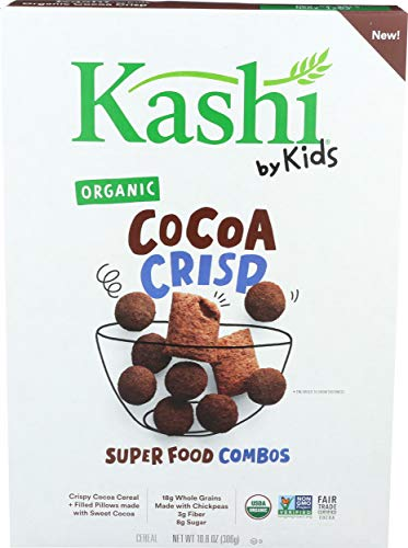 Kashi by Kids Chocolate Crisp Cereal - Organic Vegan Kids Cereal, Fair Trade Cocoa, 10.8 Oz Box