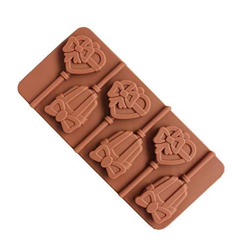 Cake kookaccessoires, Alikeey Lollipop-silicone taart, versierd met snoepjes-chocolade-bakvorm, geschikt voor restaurants, gezinnen