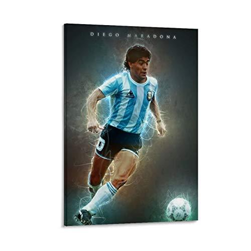 CHAOZHE Diego Maradona Poster Stampa artistica su tela con scritta 'Legend of Argentina Hand of God' (60 x 90 cm)