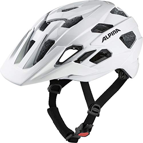 ALPINA Unisex - Erwachsene, ANZANA Fahrradhelm, white, 52-57 cm