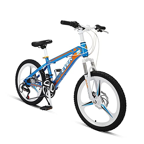 ZXQZ Bicicleta de Montaña Bicicleta de Carreras para Estudiantes Jóvenes con Frenos de Disco Doble y Rueda Integral, 24 Velocidades (Color : Blue)