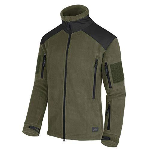 Helikon-Tex Liberty Jacket - Chaqueta de forro polar (tallas XS/regular), color verde y negro