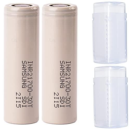 2 (Samsung) 30T 21700 3000 mAh Akkus INR für E-Zigarette Batterien Akku Dampfen Akkus für dampfer E-Zigarette + Akkubox