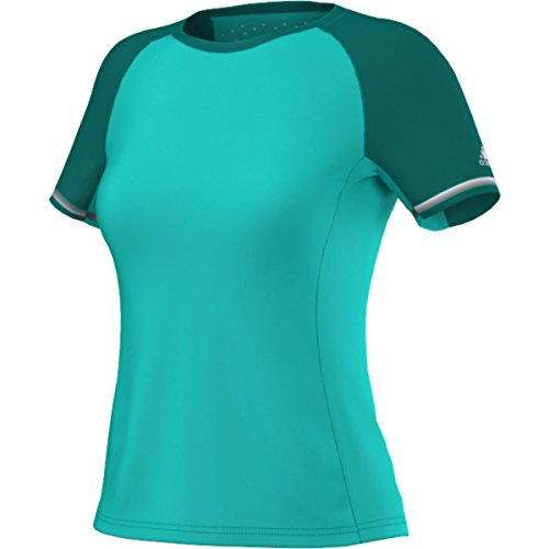 adidas Climachill Fast Crew para Mujer, Mujer, Color Verde Shock, tamaño Small