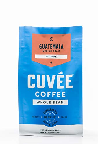Cuvée Whole Bean Coffee, Guatemala Single Origin Medium Roast, Direct Trade, 12 ounce
