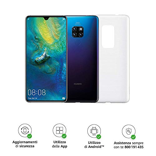 "Huawei Mate 20 (Twilight) più Cover Originale, Telefono con 128 GB, Display 6.53"" Full HD+, Processore Octa Core dinamico con Intelligenza Artificiale [Versione Italiana]"